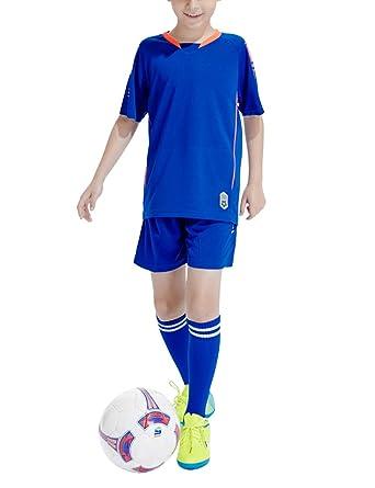 Zhhlaixing Traje de niños jóvenes Camiseta Jersey Futbol + ...