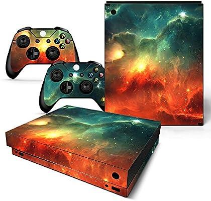 46 North Design Xbox One X Pegatinas De La Consola Galaxy + 2 Pegatinas Del Controlador: Amazon.es: Videojuegos