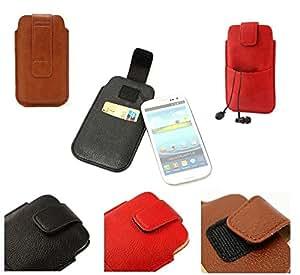 DFV mobile - Funda piel sintetica con cierre por velcro y bolsillo delantero para > lg g3s / lg g3 s, color roja