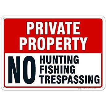 Sigo Signs - Cartel de propiedad privada con texto en inglés ...