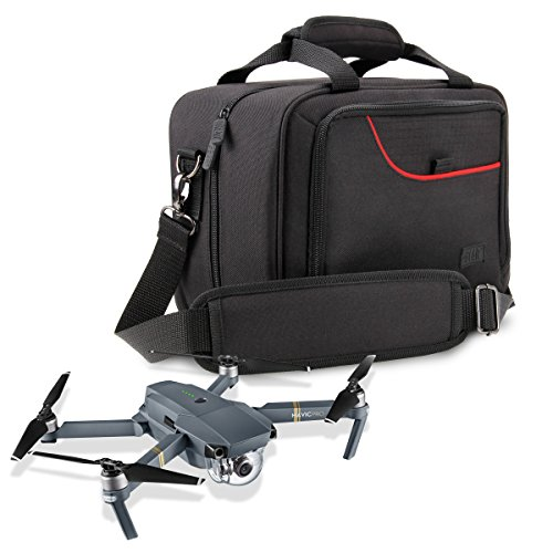 Drone Carrying Case for DJI Mavic Pro , Spark Mini & Mavic Air with Strap , Adjustable Dividers , and Storage Pockets by USA Gear - Fits Drone , Controller , Batteries , Propellers and More by USA Gear