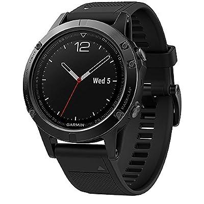 Garmin Fenix 5 Sapphire Multisport 47mm GPS Watch - Black with Black Band (010-01688-10)