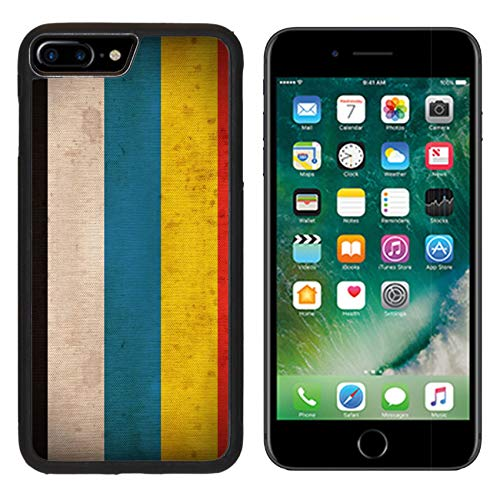 Liili iPhone 7 plus Case iPhone 8 plus Case Silicone Bumper Shockproof Anti-Scratch Resistant Tempered Glass Hard Cover IMAGE ID 31998510 China in 1912 1928 flag pattern on the fabric t