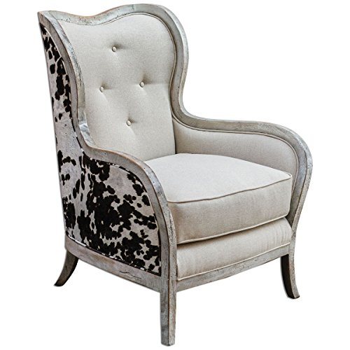 Uttermost 23611 Chalina High Back Armchair, White ()