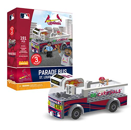 St Louis Comics - St. Louis Cardinals OYO Sports Toys Parade Bus Set with 3 Minifigure 191PCS