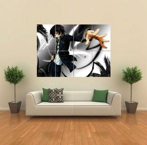 Code Geass Lelouch Zero Anime Manga Giant Poster Wall Art Picture