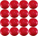 Biedermann Large Unscented Floating Candle, Cranberry, Pack of 16