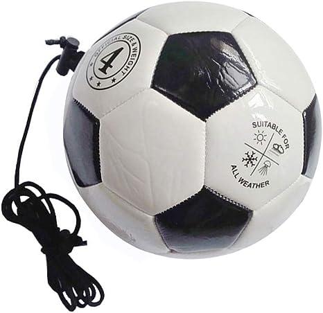 LIOOBO Balones de Entrenamiento de fútbol con Cuerda para niños ...