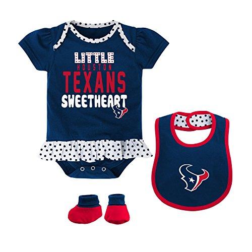 NFL Houston Texans Bib and Booty Creeper Set, 18 Months, DP Obsidian