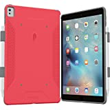 iPad Pro 9.7 Case, Poetic QuarterBack [Corner/Bumper Protection][Dual protection] - Stylish PC+TPU Case for iPad Pro 9.7 with Pencil Holder, Compatible w/ Apple Smart Keyboard Pink/Gray