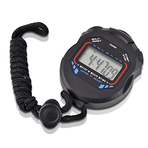 Premier Outdoor Sports Stopwatch LCD Display 1/100 Second - Second Speedometer