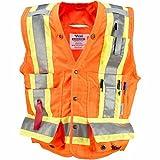 Viking Surveyor Hi-Vis Safety Vest, Orange, 3X-Large