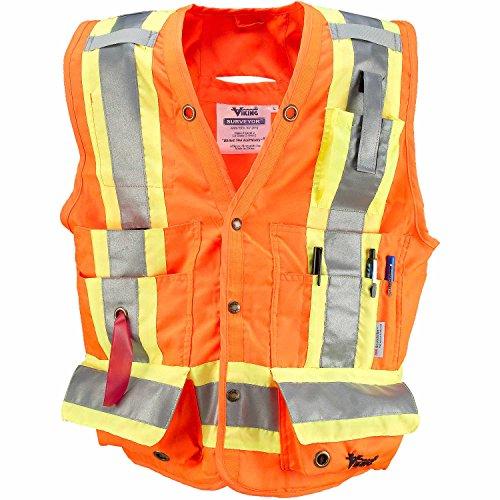 Viking Surveyor Hi-Vis Safety Vest, Orange, 3X-Large by Viking (Image #4)