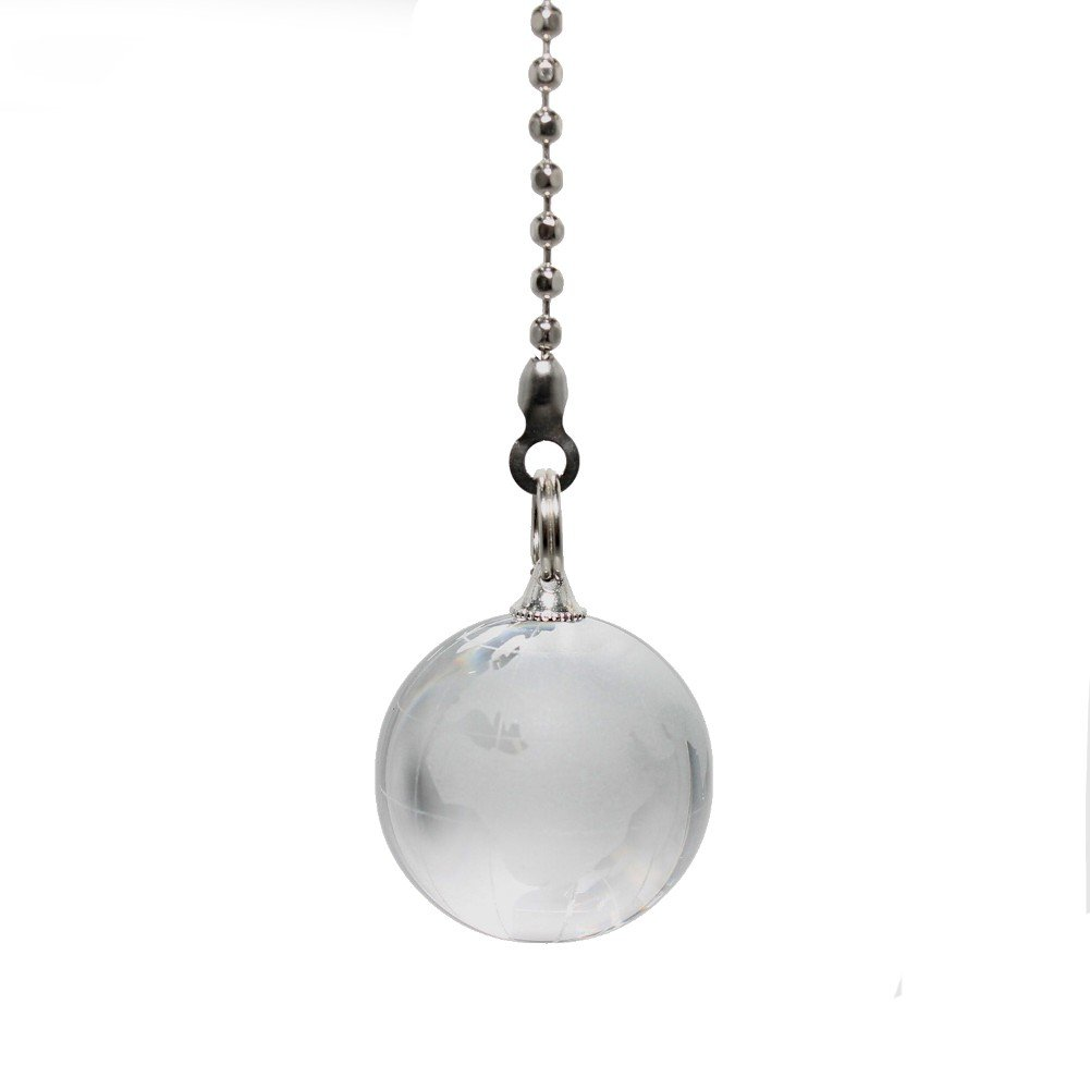 WeeZ Industries - CRYSTAL planet earth world map GLOBE Ceiling Fan Pull light Chain extender - 6''L chain