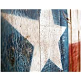 Painted Texas Flag on Wooden Fence - 11x14 Unframed Photo Art Print - A Great Gift for Those Passionate About Texas Flag - Dorm Room Game Room Bedroom Decor