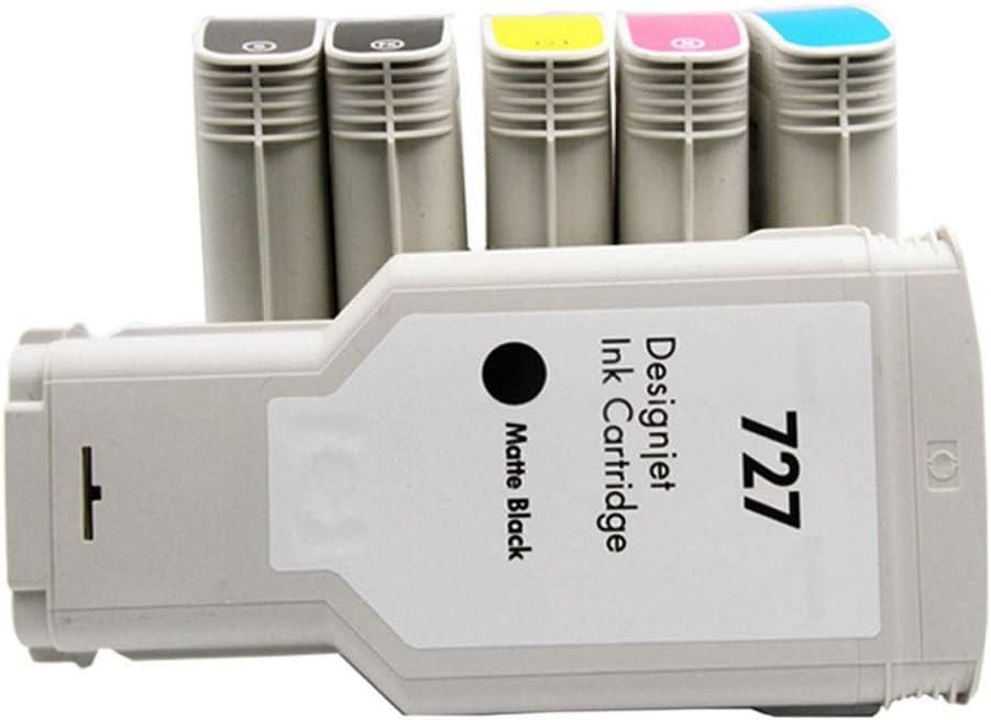 Cartucho de trazador T2500 T1500, para cartucho hp 727, C1Q12A B3P20AB3 B3P20A B3P21A B3P19A B3P23A B3P24A reemplazo del cartucho de impresora-PBKdye: Amazon.es: Oficina y papelería