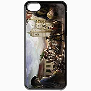 Personalized iPhone 5C Cell phone Case/Cover Skin Assassin People Arena Soldiers Church Art Black