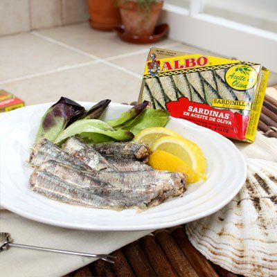 CSBH, Albo Sardines in Olive Oil (Small 8.5ct), 4.25oz