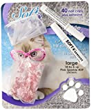Feline Soft Claw Nail Caps - Large - Pink Sparkle