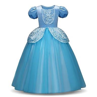 491ff5634f8d2 oobest Vestito da Principessa Costume Ragazze Halloween Party Fancy Cosplay  Cenerentola Prom Abiti da Sposa  Amazon.it  Abbigliamento