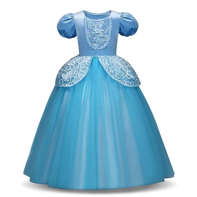 772d957a08ae oobest Vestito da Principessa Costume Ragazze Halloween Party Fancy Cosplay  Cenerentola Prom Abiti da Sposa  Amazon.it  Abbigliamento