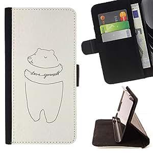 Momo Phone Case / Flip Funda de Cuero Case Cover - Yourself Dessin motivation - LG G4 Stylus H540
