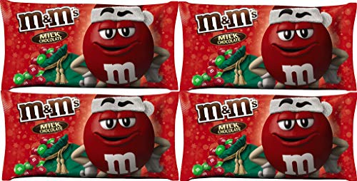 M&M's Milk Chocolate Holiday Red & Green 11.4oz (Pack of 4)]()