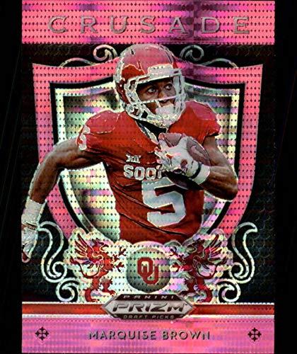 2019 Prizm Draft Picks Football Crusade Pink Pulsar #2 Marquise Brown Oklahoma Sooners Panini NFL Collegiate RC Rookie - Rookie Football Nfl Brown