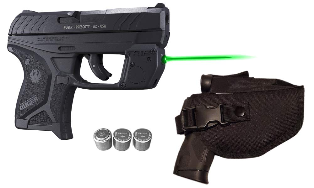 Laser Kit for Ruger LCP II (LCP2 - Fits Both .22LR & 380 LCP 2 Models) w/Tactical Holster, Touch-Activated ArmaLaser TR12-G Green Laser Sight & 2 Extra Batteries