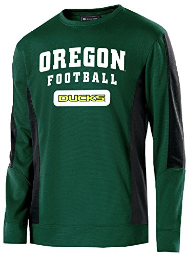 Ouray Sportswear NCAA Oregon Ducks Men's Artillery Crew, Medium, Forest Heather/Black (Black Headed Duck)