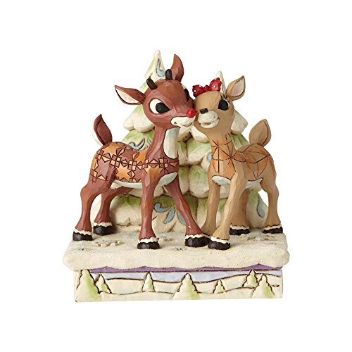 Enesco Jim Shore Traditions 6001588 Rudolph and Clarice by Trees Figurine