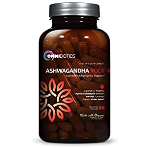 Organic Ashwagandha 600mg | Natural Ayurvedic Adaptogen from India, Promotes Energy & Stress Relief, 90 Vegetarian Capsules