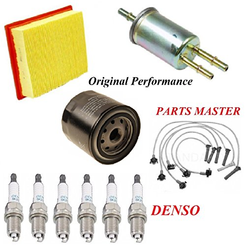 8USAUTO Tune Up Kit Air Oil Fuel Filters Wire Spark Plug Fit FORD EXPLORER SPORT TRAC V6 4.0L 2002-2003 (From 3/5/02)