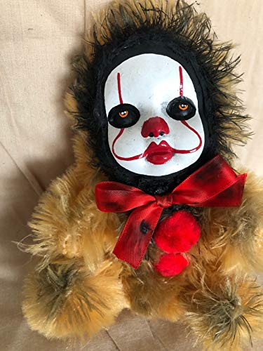 OOAK Pennywise IT Clown Teddy Bear #6 Creepy Horror Doll Art Christie Creepydolls from Christie Creepy Dolls