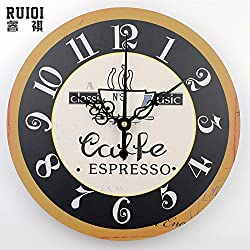 Fashion coffee wall clocks absolutely silent wall clock home decor unique kitchen wall clock modern design