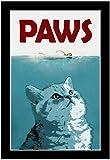 "QH Paws Movie Cat Funny Home Decoration 15.7""x23.6"" Bath Mat Rugs Non-Slip Rectangle Floor Entryways Outdoor Indoor Front Door Mat Carpet (2)"