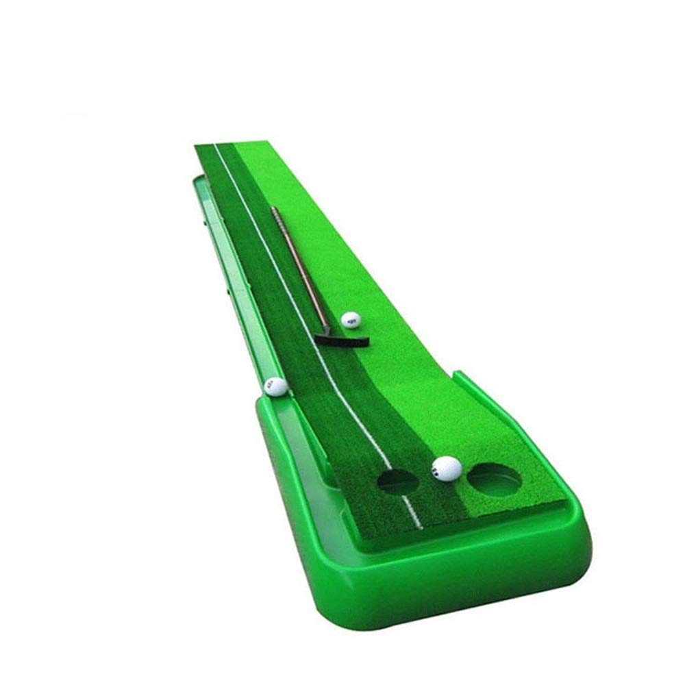 Sviper-sport Family Golf mat Mini Golf Practice Training Aid Portable Golf Putting Practice Golf Indoor and Outdoor Push Bar Mat Practice Set for Office Golf Greens (Color : Green, Size : 30cm×250cm)
