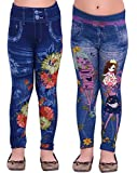 Raiter by Ziva Fashion Girls Poly Cotton Black Jeggings (Pack of 2)…