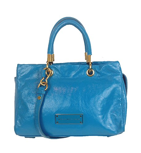 Too Hot to Handle Glazed Leather Satchel, Bermuda Palm ()