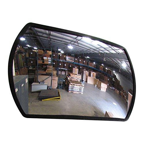 Se-Kure Domes & Mirrors RTH-12X18 Acrylic Roundtangular Acrylic Mirror/Telescopic Mounting Bracket, 12'' x 18'' by Se-Kure Domes & Mirrors