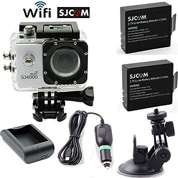 SJCAM SJ4000 WIFI Cámara Sports Helmet Camera DVR + Batería ...