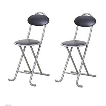 Astonishing Amazon Com Stools Round Compact Folding Stool Barstools Customarchery Wood Chair Design Ideas Customarcherynet