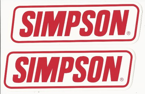 (Simpson Racing Decals Stickers 9 Inches Long Size Set of)