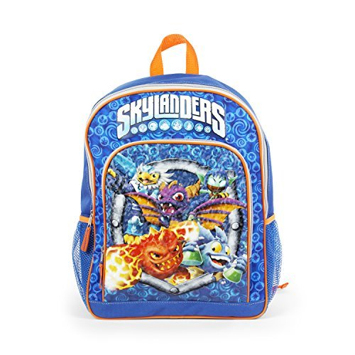 Skylanders Blue 16 Inch Backpack with Card Slot for -