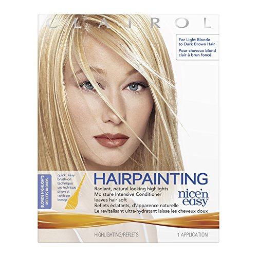 Clairol Nice n Easy Hairpainting Radiant Natural Looking Blond Highlights Hair Color Kit (Pack of 3), For Light Blond to Dark Brown - Brush Clairol Easy N Nice