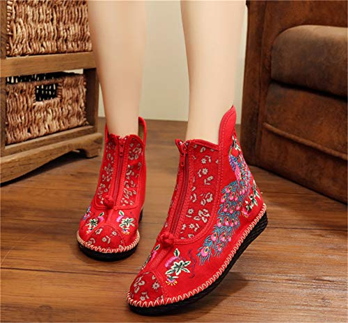 Cute Cat Warm Boots Women Family Christmas Cotton Winter Shoes Women Boot Red