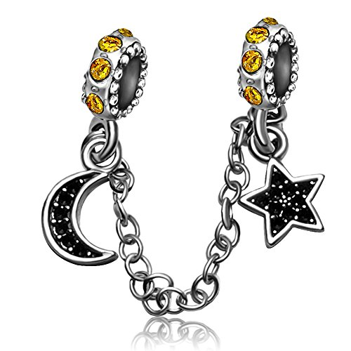 JMQJewelry Halloween Charms Love Moon Dangle Night Sky Beads For Bracelets