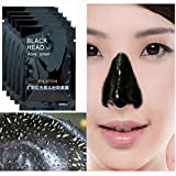 Nose Removal Blackhead Cleansing Mask,10pcs Mineral Black Mud Blackheads Purifying Peel Acne Face Mask