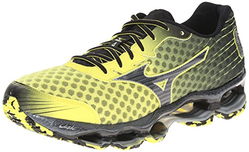 Mizuno Men's Wave Prophecy 4 Running Shoe,Bolt/Black,8 D US