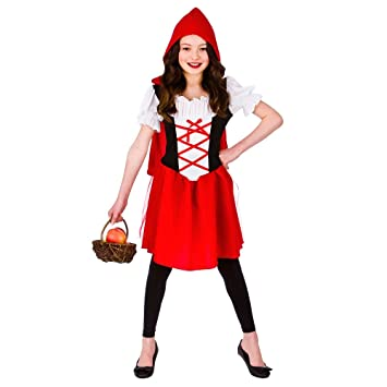 Disfraz de Caperucita Roja para Niñas (S (3-4 años 110-122cm ...